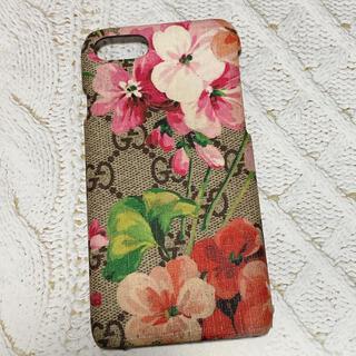 グッチ(Gucci)のグッチ iPhoneケース 7 8 ブルームス 花柄ピンク(モバイルケース/カバー)