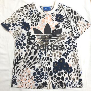 アディダス(adidas)のアディダスオリジナル 廃盤 シャツ 派手 花柄 豹柄 ボタニカル  植物(Tシャツ(半袖/袖なし))