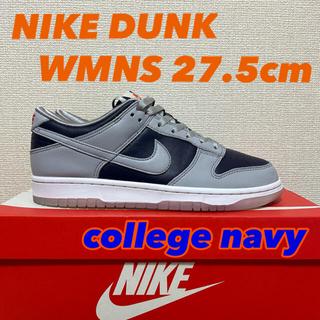 ナイキ(NIKE)の【新品同様】NIKE dunk low WMNS college navy(スニーカー)