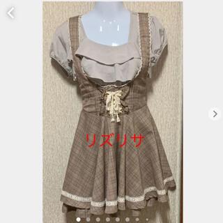 リズリサ(LIZ LISA)のリズリサ 肩ひもつきスカート(トップスは参考)(ミニスカート)