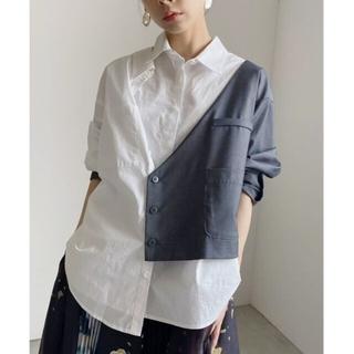 アメリヴィンテージ(Ameri VINTAGE)のアメリヴィンテージ ジャケットドッキングシャツ(シャツ/ブラウス(長袖/七分))