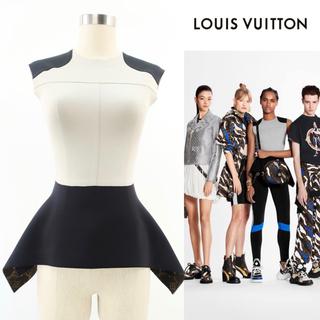 ルイヴィトン(LOUIS VUITTON)の 【新品タグ付き】Louis Vuitton 2020ss ペプラムトップス(カットソー(半袖/袖なし))