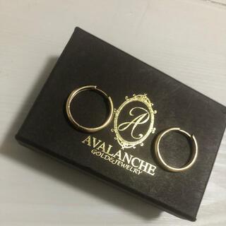 アヴァランチ(AVALANCHE)のアヴァランチ 10kフープピアス(ピアス(両耳用))