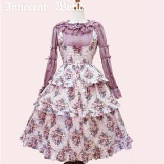 Innocent World - イチゴブーケドールジャンパースカート ピンク