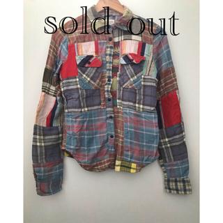 デニムアンドサプライラルフローレン(Denim & Supply Ralph Lauren)の売り切れました ネルシャツ デニム &サプライ パッチワーク(シャツ/ブラウス(長袖/七分))