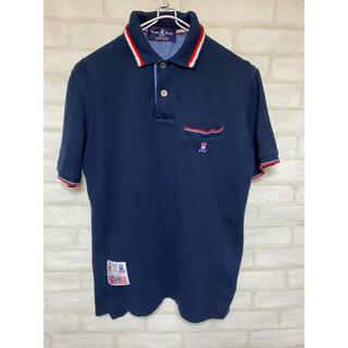 サイコバニー ポロシャツ Lサイズ ゴルフウェア ネイビー 半袖シャツ (ウエア)