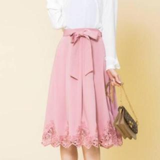 アールディールージュディアマン(RD Rouge Diamant)のRD 裾レースフレアスカート(ひざ丈スカート)
