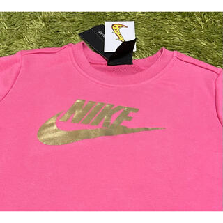 ナイキ(NIKE)の【新品】NIKE ナイキ 150 トレーナー プルオーバー ピンク(Tシャツ/カットソー)
