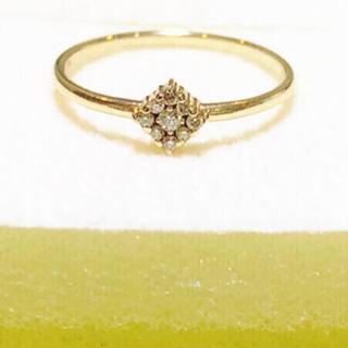 ココシュニック(COCOSHNIK)のココシュニック★ダイヤモンドリング8号★定価26,400-超美品(リング(指輪))