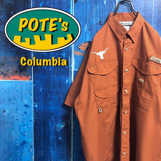 Columbia - 【コロンビア】PFGテキサス大学チーム刺繍ロゴ半袖フィッシングシャツ