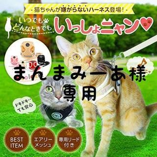 ハーネス リード 猫用 首輪 レッド S(リード/首輪)