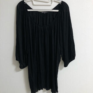 ニジュウサンク(23区)の23区 カットソー 黒 トールサイズ XL(カットソー(長袖/七分))