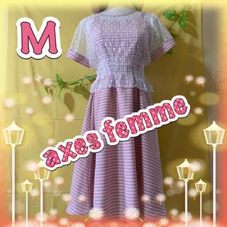 アクシーズファム(axes femme)のフェミニン系アンサンブル フレアワンピース M(セット/コーデ)