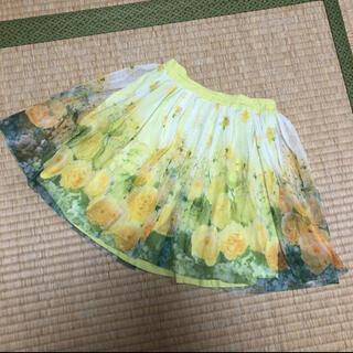 ニットプランナー(KP)のニットプランナー KP お花 チュールスカート サイズ130(スカート)