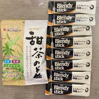 エイージーエフ(AGF)のブレンディ スティック エスプレッソオレ 微糖 甜茶のど飴(コーヒー)