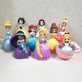 Disney - ディズニー プリンセス フィギュア ヒロインドール ラプンツェル ベル アリエル