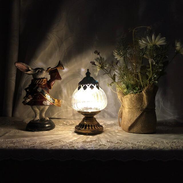 Loireロワール LEDランタン スタンド(S)ホワイト アンティーク調 インテリア/住まい/日用品のライト/照明/LED(テーブルスタンド)の商品写真