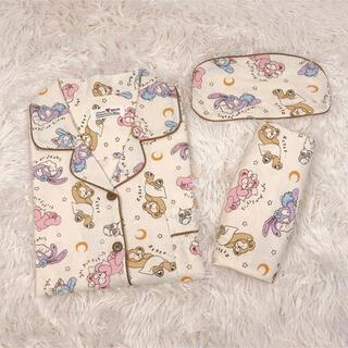 ダッフィー(ダッフィー)の日本未発売 ダッフィーフレンズ パジャマ ルームウェア アイマスク付き 半袖(パジャマ)