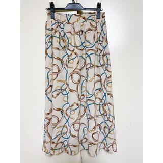 MAJESTIC LEGON - MAJESTIC LEGON スカーフ柄 フレアロングスカート