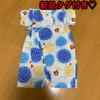 ミキハウス(mikihouse)のミキハウス ホットビスケッツ 甚平 ロンパース(甚平/浴衣)