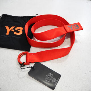 ワイスリー(Y-3)の新品 正規品 Y-3 リングベルト 濃い オレンジ 黒 ブラック メンズ(ベルト)