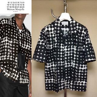 マルタンマルジェラ(Maison Martin Margiela)の新品 42 20aw マルジェラ ポルカドット柄半袖シャツ 白黒 381(シャツ)