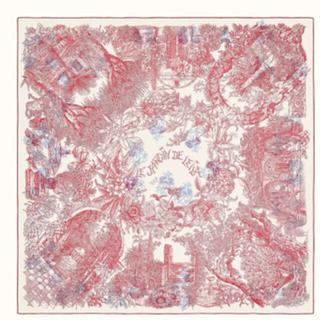 エルメス(Hermes)の《新品》エルメス カシミアシルク レイラの庭(バンダナ/スカーフ)