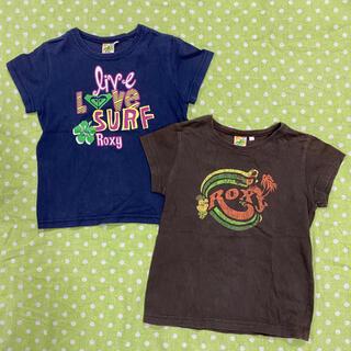 ロキシー(Roxy)の【値下げ】ロキシー ROXY Tシャツ 2枚セット 120サイズ(Tシャツ/カットソー)