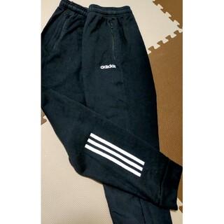 アディダス(adidas)の☆adidas アディダス スエットジャージパンツ 黒&白線 サイズO(その他)