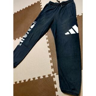 アディダス(adidas)の☆adidas アディダス スエットジャージパンツ 黒&白ロゴ サイズO(その他)