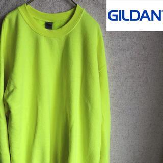 GILDAN - GILDAN 無地 スウェット トレーナー 蛍光 イエロー ギルダン Mサイズ