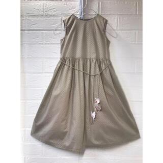 ボンポワン(Bonpoint)のBon point  4歳用 ピンクインナースカートがキュートなワンピース(ワンピース)
