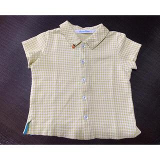 ファミリア(familiar)のfamiliar70黄緑チェックシャツ(シャツ/カットソー)
