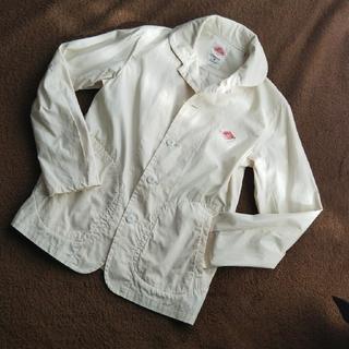 ダントン(DANTON)のダントン*コットン 丸襟シングルジャケット[34] アイボリー(その他)