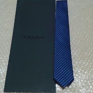 シーケーカルバンクライン(ck Calvin Klein)の新品 Calvin Klein カルバンクライン ブラックブルー ナローネクタイ(ネクタイ)