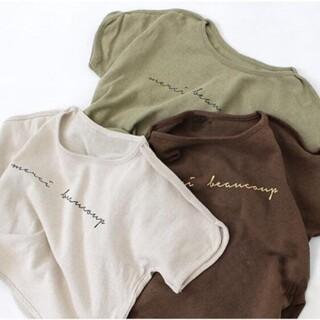 *韓国子供服 * ビッグシルエット ロゴT カットソー 半袖 tシャツ 80(Tシャツ)