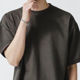 nano・universe - シルケットシアサッカーTシャツ ナノユニバース