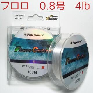 フロロカーボンライン 0.8号 100m 4lbリーダー メバリング アジング(釣り糸/ライン)