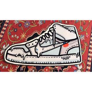 ナイキ(NIKE)のOff-White × Nike Air Jordan 1 White 絨毯(カーペット)
