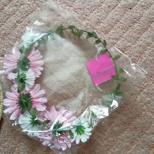 EARTHMAGIC(アースマジック)の220  アースマジック カンカン帽と花かんむりセット キッズ/ベビー/マタニティのキッズ服女の子用(90cm~)(その他)の商品写真