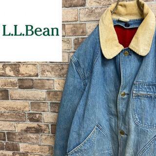 エルエルビーン(L.L.Bean)の●エルエルビーン● デニムジャケット 襟コーデュロイ ダブルポケット(Gジャン/デニムジャケット)