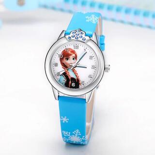 アナトユキノジョオウ(アナと雪の女王)の【人気商品☆ラスト★】アナと雪の女王の腕時計☆ライトブルー 新品 SALE中❣️(腕時計)