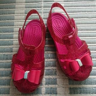 crocs - クロックス 18センチ イザベラボウC11 ピンク
