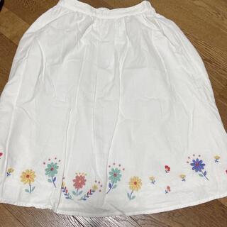 エヘカソポ(ehka sopo)の花柄刺繍スカート(ひざ丈スカート)