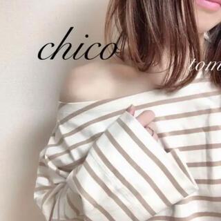 フーズフーチコ(who's who Chico)のボートネックボーダーロンT(Tシャツ(長袖/七分))