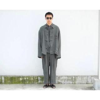 COMOLI - badhiya リネンセットアップ ジャケット シャツ パンツ