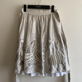 ケイトスペードニューヨーク(kate spade new york)の美品 ケイトスペード 豪華刺繍スカート(ひざ丈スカート)