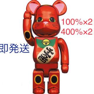 メディコムトイ(MEDICOM TOY)のBE@RBRICK 招き猫 梅金メッキ400%&100% 2セット(その他)