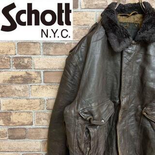 ショット(schott)の●ショット●レザーフライトジャケット G-1 60s~70s デカTALON(レザージャケット)