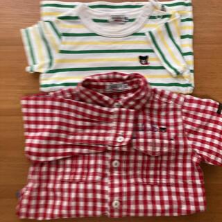 ダブルビー(DOUBLE.B)のミキハウス DOUBLE.B 80cm シャツ&tシャツセット品(Tシャツ)